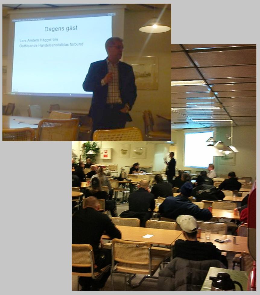 Lars Anders Häggström besöker Handelsklubben på Lagena